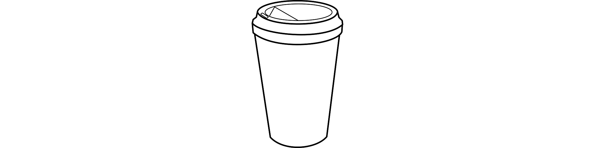 """Disposable coffee cup illustration - """"Chitchat"""" microfiction"""