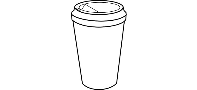 "Disposable coffee cup illustration - ""Chitchat"" microfiction"