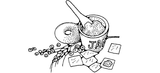 "Jam and crackers illustration - ""Jammed"" flash fiction"
