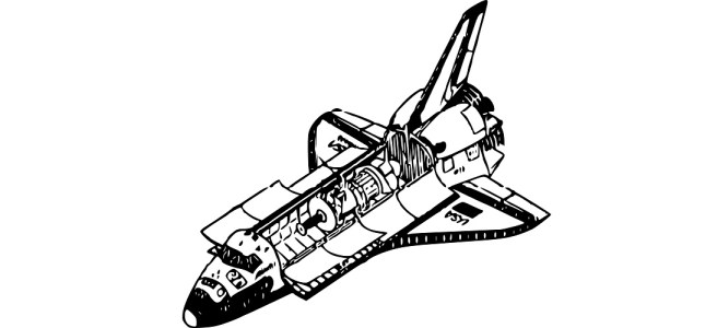 "Space shuttle illustration - ""Everything Is On The One"" microfiction"