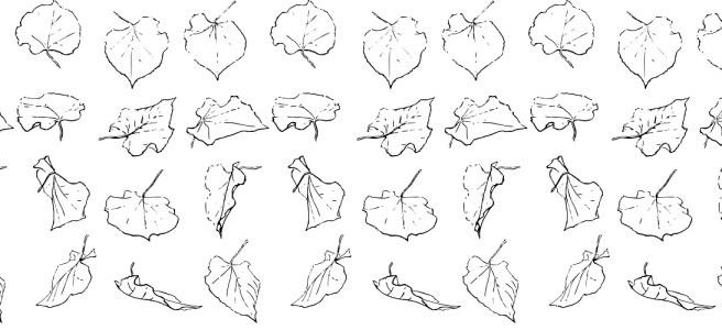 "Leaves illustration - ""The Hunt"" microfiction"