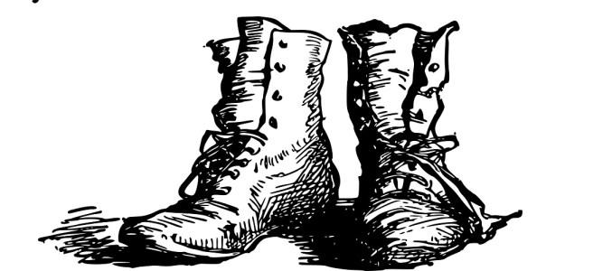 "Boots illustration - ""Take a Hike"" flash fiction"
