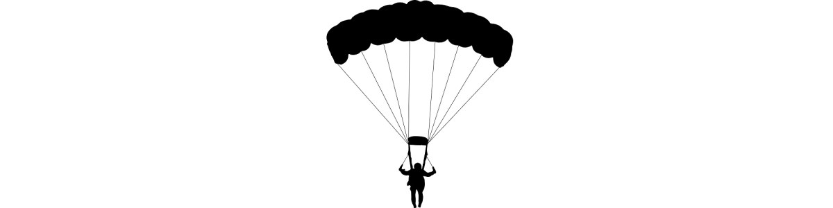 "Silhouette of parachute - ""Oh, Chute"" microfiction"