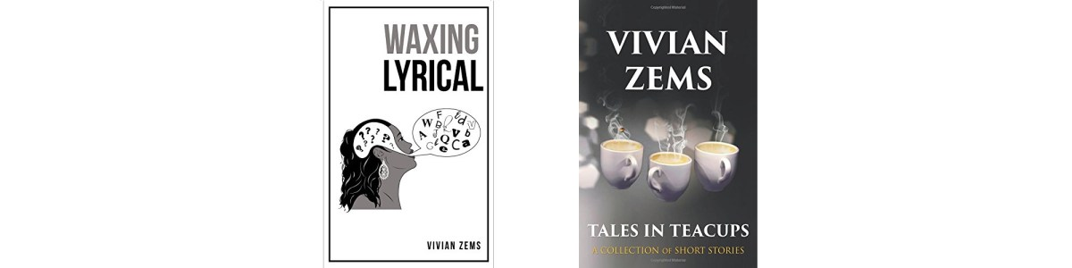 'Waxing Lyrical' and 'Tales in Teacups' book covers