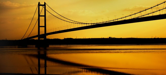 "The Humber Bridge at sunset - ""The Last Cig in the Packet"" short story"