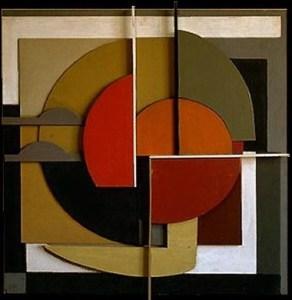 Komposition i målat trä (1957)