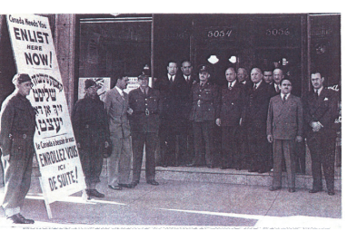 Jewish Canadian WWll soldiers at recruiting office Montreal