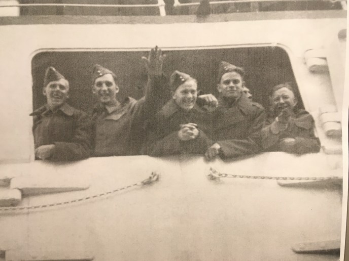 soldiers on a ferry in Canada Second World War