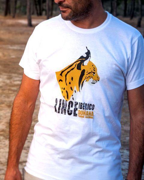 Camiseta perfil lince ibérico blanca