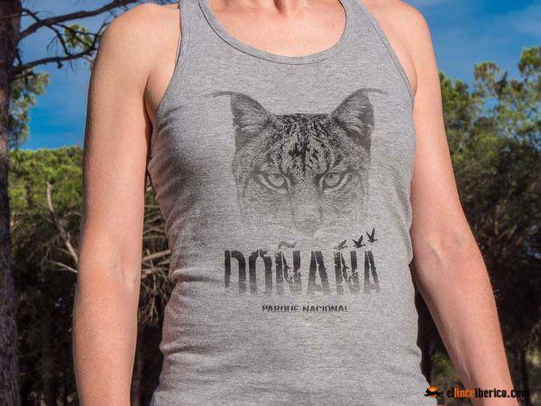 Camiseta tirantes lince ibérico Doñana