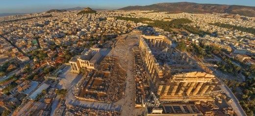 Εντυπωσιακές φωτογραφίες της Αθήνας από ψηλά