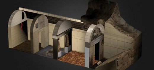 Amphipolis 3d model with the magnificent mosaic