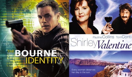 Shirley Valentine (1989); Bourne Identity (2002) In A Study In Contrasts,  The Classic Liverpool Housewife, Shirley Valentine (Pauline Collins) Gets  Her ...