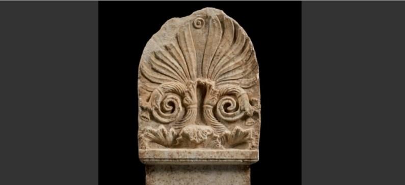 Greek hunter of stolen antiquities identified a Greek marble funerary stele