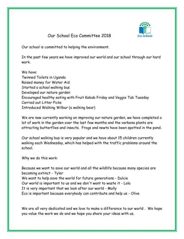 thumbnail of Our School Eco Committee – Head