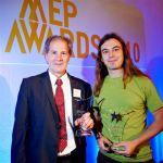 Κρίτων Αρσένης με τον Πρόεδρο της Επιτροπής Περιβάλλοντος Jo Leinen που έλαβε το βραβείο για την Επιτροπή Περιβάλλοντος