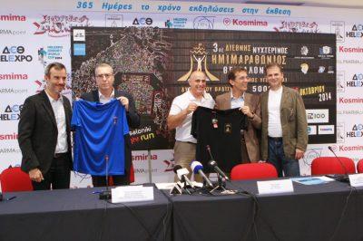 (εικονιζόμενοι από αριστερά): Κωνσταντίνος Ζέρβας, Γιάννης Ποδιώτης, Δρόσος Χριστόπουλος, Τάσος Τζήκας, Γιώργος Σαμψούρης.