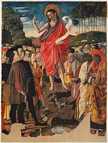 (Ο Ιησούς ευλογεί τη Ζωή Σοφία Παλαιολογίνα και τη συνοδεία της κατά την αναχώρησή τους από την Ιταλία. Εικόνα από λάβαρο της εποχής της πόλης Ούρμπινο της Ιταλίας. Στο άκρο αριστερό τμήμα της εικόνας διακρίνονται ο καρδινάλιος Βησσαρίων και η Ζωή Σοφία Παλαιολογίνα.)
