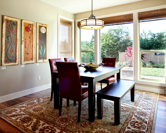 Eclectic Dining Room With Windows (Portland)