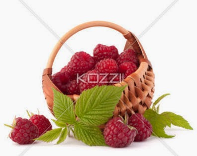 Ripe Raspberries In Basket