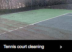 Tennis court cleaning services by Elliott Courts