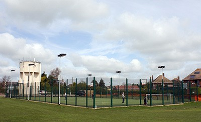 Multi Use Games Area (MUGA) by Elliott Courts.