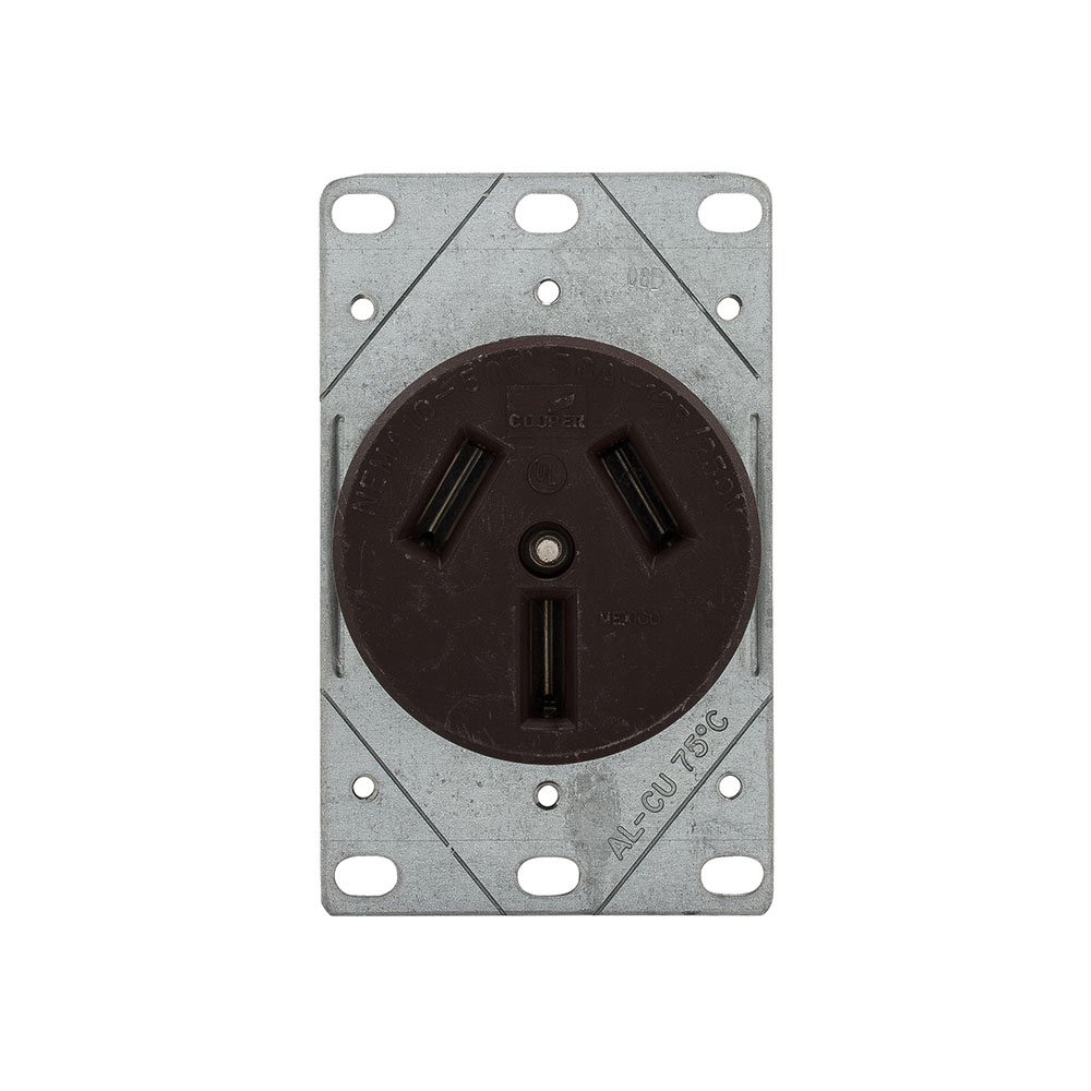 medium resolution of 32b 32b box eaton recp 50a 125 250v 3p3w str flush mnt br eaton 50 amp heavyduty grade flush mount power receptacle with 4wire