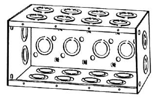 2 Deep 3 Gang Masonry Electrical Box Exterior Electrical