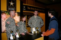 Talking to the Army Vet Corps reps at the SAVMA Symposium during my first year.