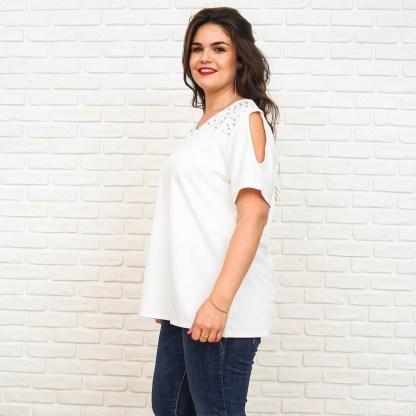 witte t-shirt parels