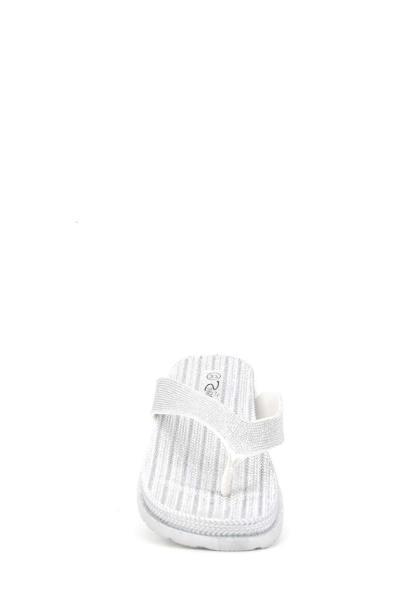 zilverkleurige Ellip-sis slippers