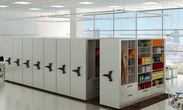 High Density Mobile Shelving Compact Shelving Rolling
