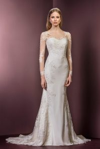 Long Sleeve Lace Dress | Ellis Bridals