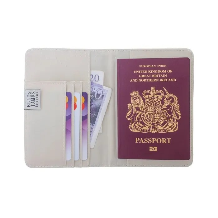 Black Travel Passport Keeper