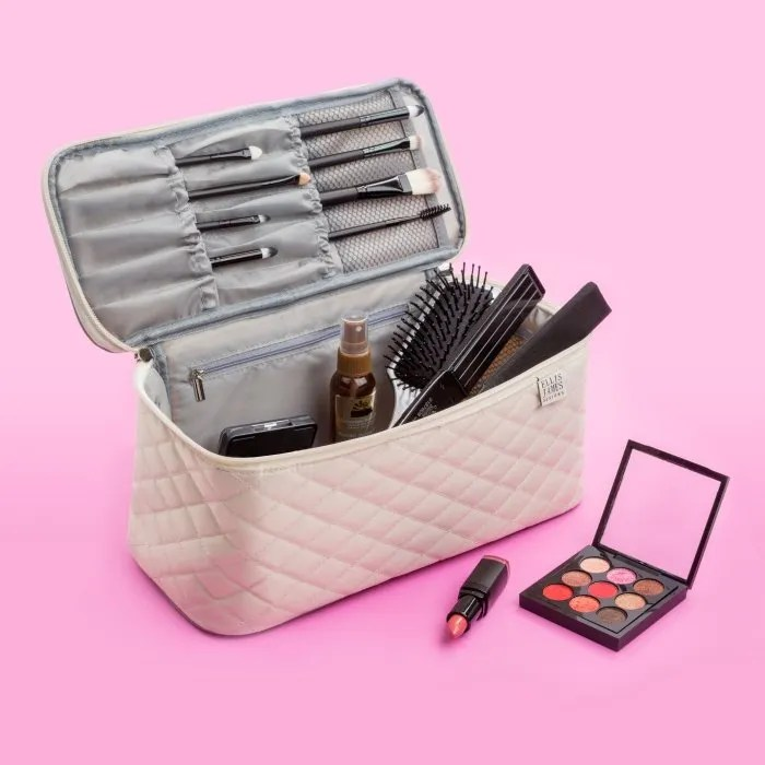 Cream Large Cosmetic Organizer