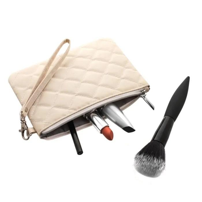 Cream Wristlet Glam Bag