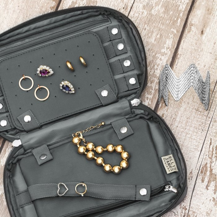 Grey Travel Jewelry Keeper