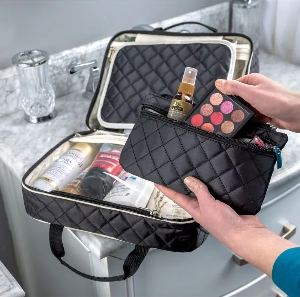 Quilted Hanging Toiletry Organizer