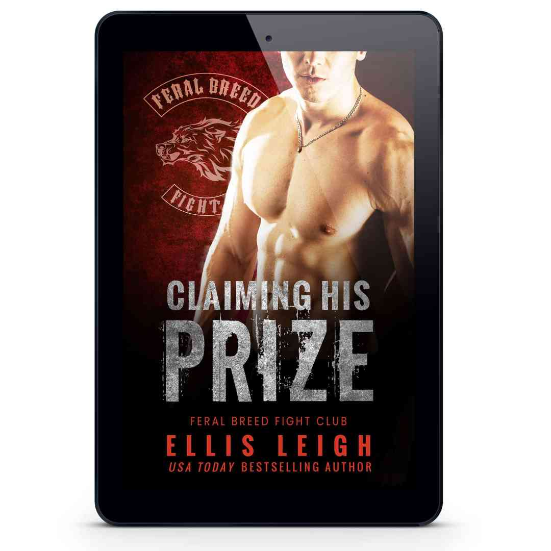 Claiming His Prize cover on display in ereader