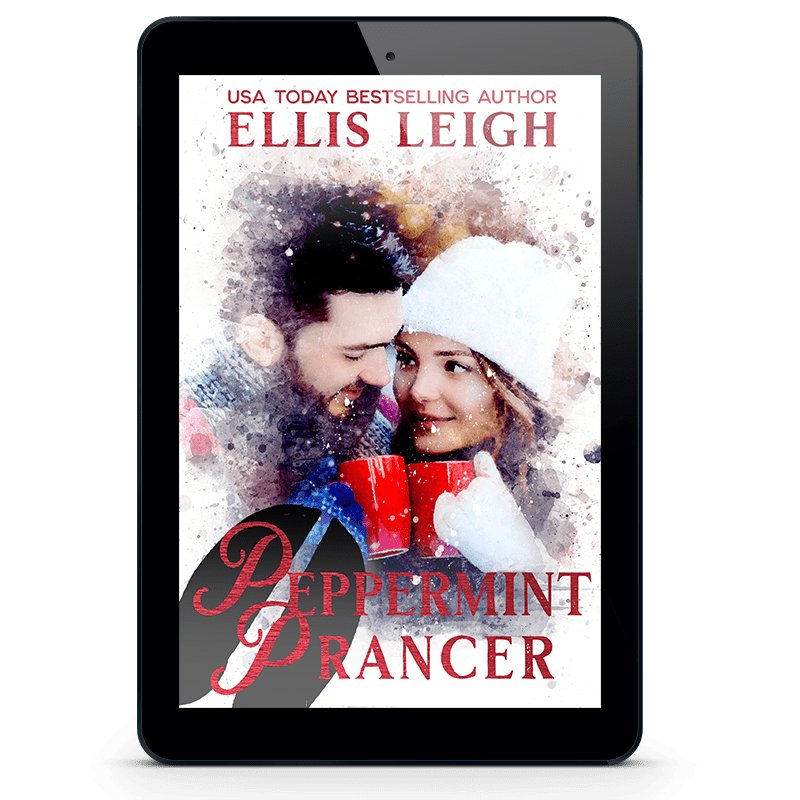 Peppermint Prancer cover inside ereader