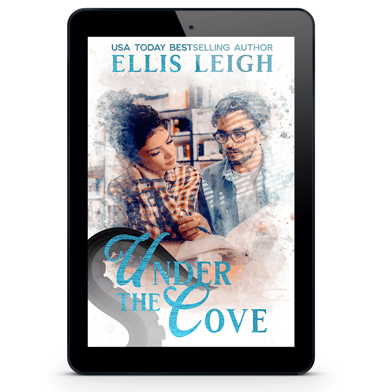 Cover of Under The Cove featuring a man reading with a woman within ereader frsme