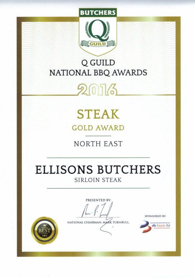 Gold Award - Steak