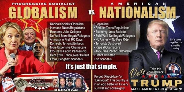 Image result for AMERICANISM TRUMP VS OBAMA GLOBALISM