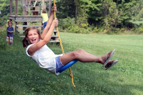 Zip Line at Ellms Farm near Saratoga Springs