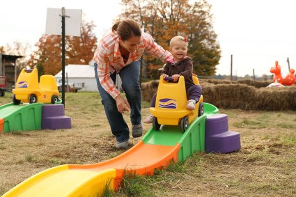 Rollercoasters at Ellms Family Farm - fun things to do with kids near Saratoga