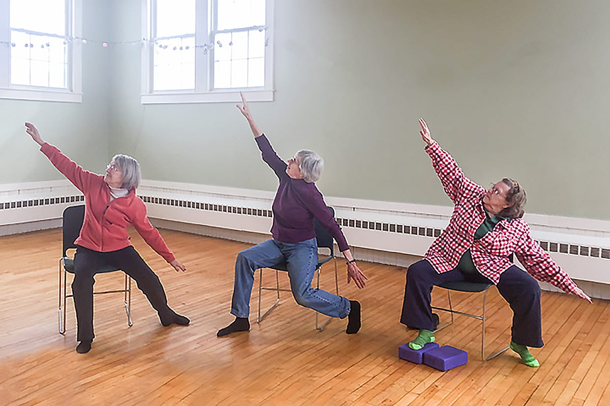 chair yoga for seniors pressed back chairs free classes offered ellsworth area chamber of commerce bar harbor every body dance and cancer are being on mdi through the graceful aging program
