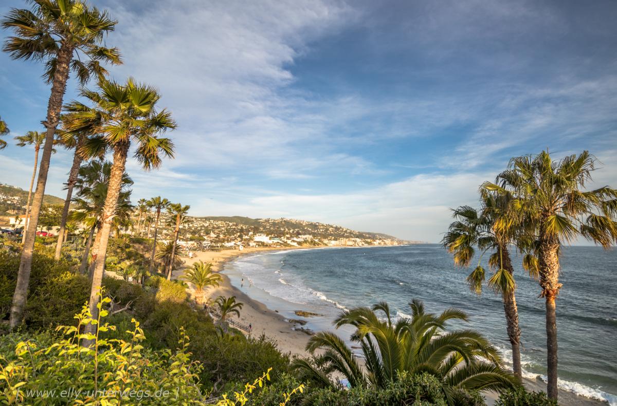 Huntington Beach: Die Anfahrt nach Huntington by the Sea und Ausflug an den Strand von Laguna Beach