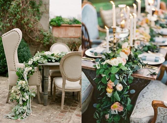 tablescape with foliage garland event design www.caribbeanlivingblog.com1
