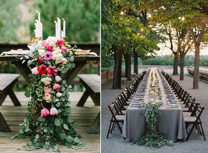 tablescape with foliage garland event design www.caribbeanlivingblog.com3