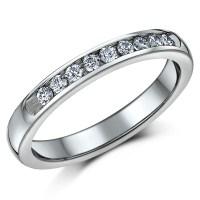 Titanium Bridal set cz engagement & eternity ring - Bridal ...